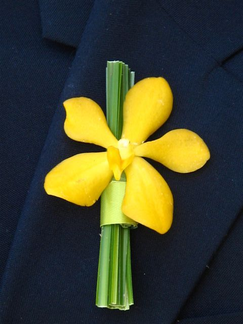 Love the simplicity of this Orchid buttonhole, Would you have it for your wedding day?