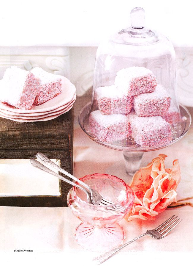 Pink Jelly Cakes photographed by Anson Smart and styled by Steve Pearce and Lucy Weight for the Donna Hay Kids magazine.