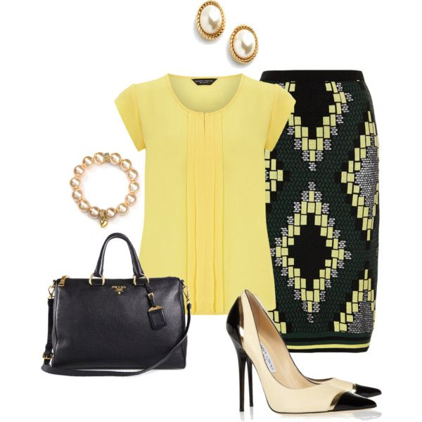 Work Chic - Yellow Fever by lisa-eurica on Polyvore featuring moda, Dorothy…