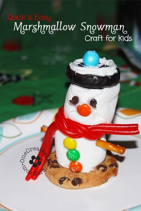 Check out this quick and easy Marshmallow Snowman Craft for Kids! You won't believe how easy it is to create these fun marshmallow snowmen with your kids.