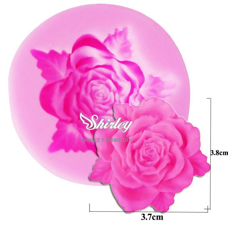 M108 Hot Selling Rose Leaf Shaped Silicone Mold Cake Decoration Fondant Cake 3D Food Grade Silicone Mould