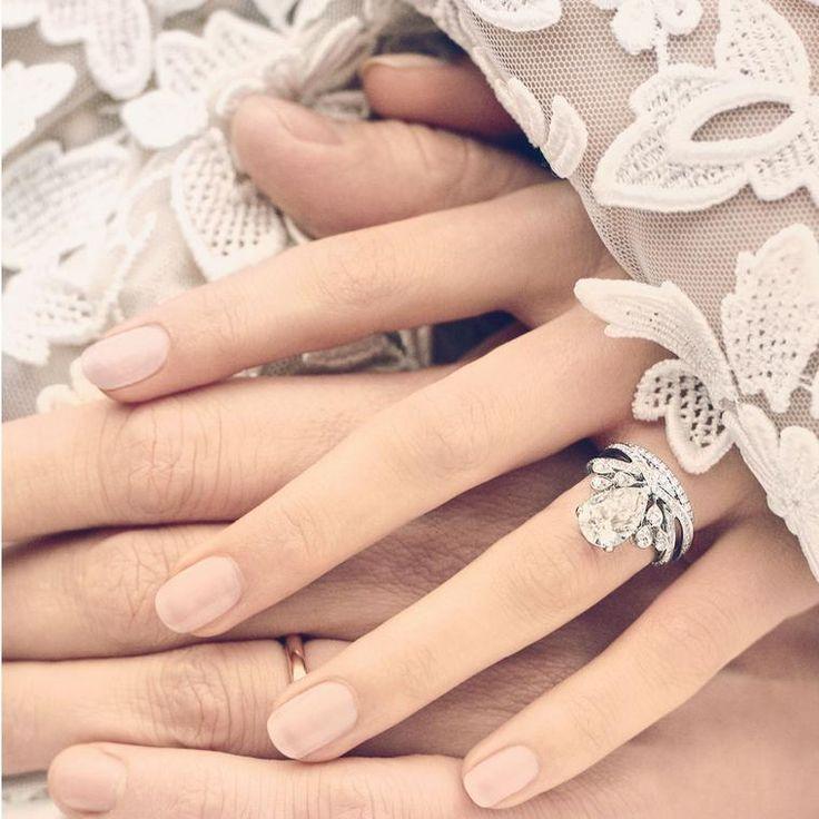 Chaumet Joséphine Aigrette Imperiale diamond engagement ring on model
