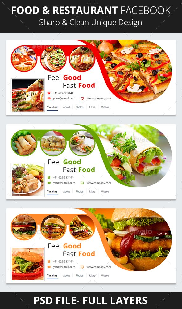 Food & Restaurant Facebook Cover Template PSD. Download here: http://graphicriver.net/item/food-restaurant-facebook-cover/16791355?ref=ksioks