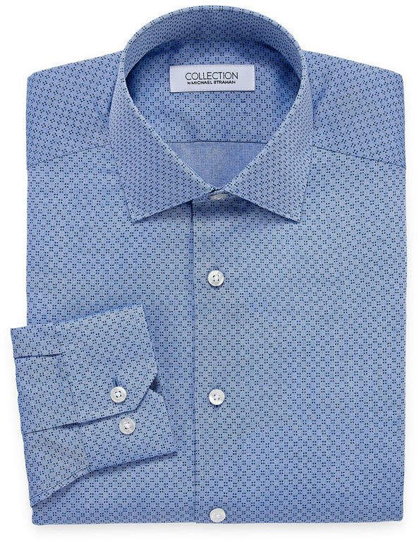 8239b7e0 COLLECTION Collection by Michael Strahan Wrinkle Free Cotton Stretch Big  And Tall Long Sleeve Woven Dress Shirt