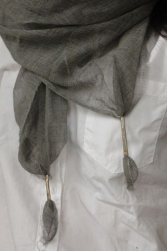 Damir Doma Silk Linen Metal Tipped scarf