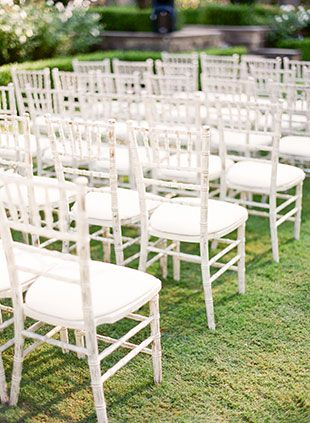 White chiavari chairs