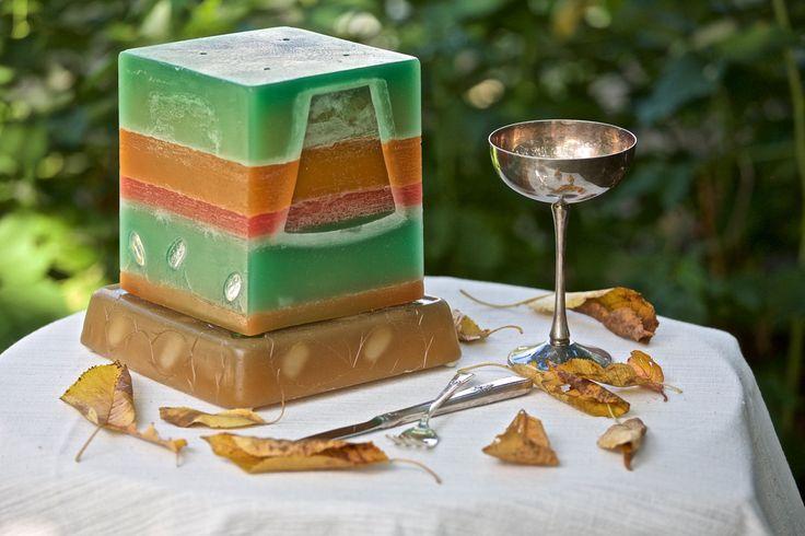 The secret glass wax box, handmade lamp, unique glow, gift idea, by ArtGloLighting on Etsy