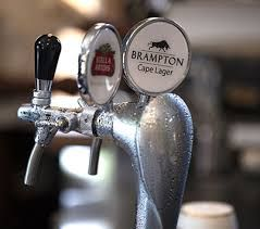 Our Brampton Beer available on tap at the Studio in Stellenbosch and Franschhoek.