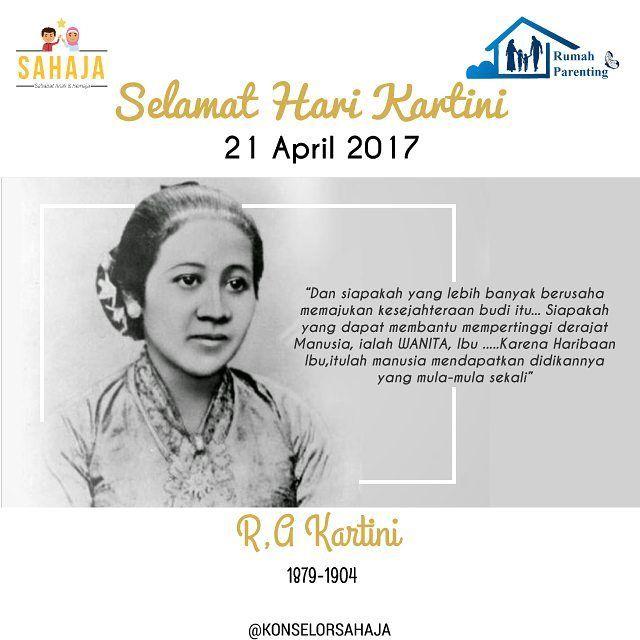 Wanita memang harus cerdas & berpendidikan tinggi, tapi jangan jadikan kesempatan ini hanya untuk memperkaya diri. Niat kan dalam hati, agar kecerdasan & pendidikan yang kita miliki, dapat berguna untuk anak-anak kita di suatu hari nanti. • • • Selamat Hari Kartini! Happy Kartini Day!  #kartini #harikartini #kartiniday #selamatharikartini #ibu #wanita #wanitaindonesia #sahabat #anak #remaja #sahaja #rumahparenting #parenting #igers #instastory #instalife #instagood #swag #instafriend…