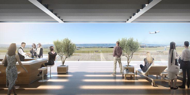 Le Coeur d'aéroport de Marseille-Provence offrira une terrasse avec vue panoramique sur les pistes (2023)