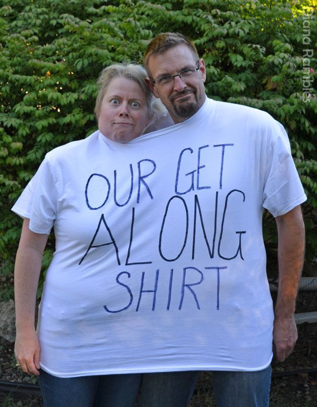 Our Get Along Shirt Couple Easy Halloween Costume AD - Perfect for a last minute costume.