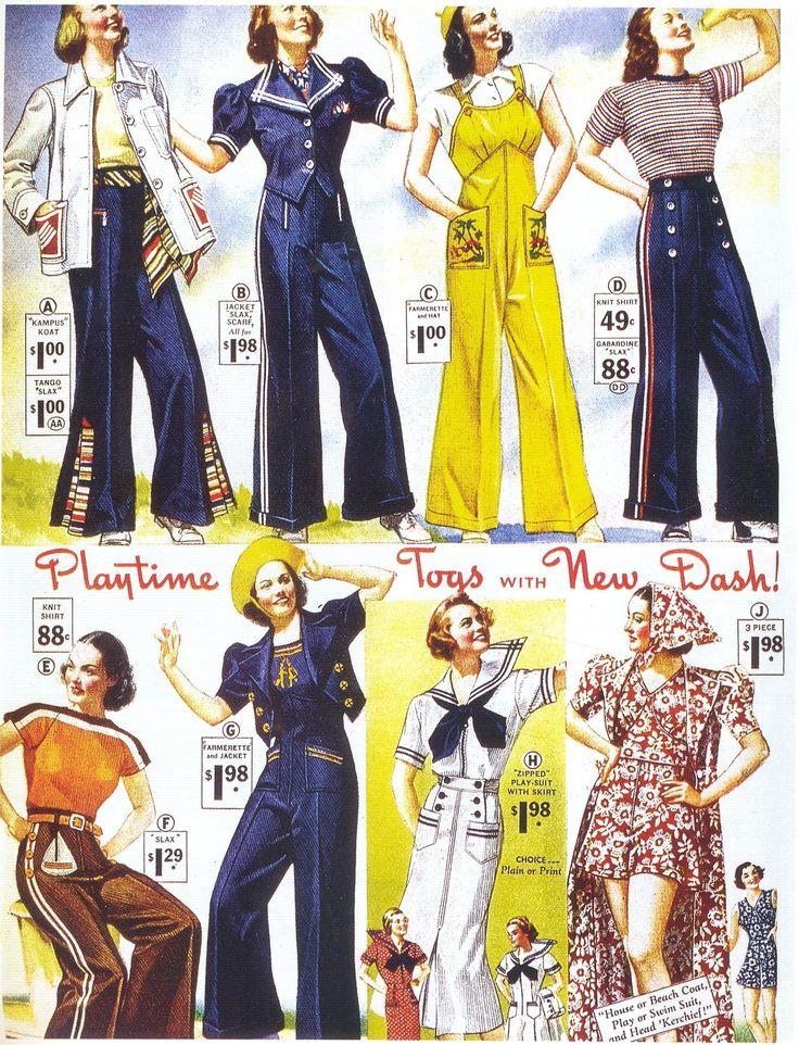 1930s Fashion Ad - Pants!
