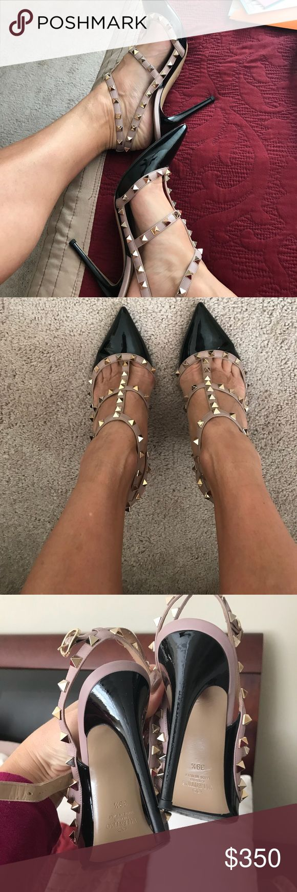 Valentino Rockstud heels These have only been worn a couple of times and are in excellent pre-loved condition. Only a little scuff on bottom and no other scratches or scuffs. They are a tad too small for me, needed a 9.5 but these were on sale. No box or dust bag Valentino Shoes Heels