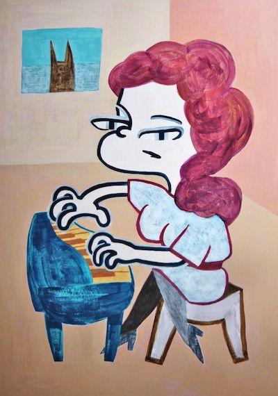 The Pianist #illustration #contemporaryart #editorial #cartoon #comic #piano #イラスト