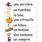 French Halloween Flashcards, word walls or classroom poster. ...