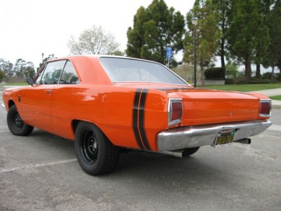 This 1967 Dodge Dart Gt Looks Great On Black Steelies With Matching Black Plates And A Tall Hood