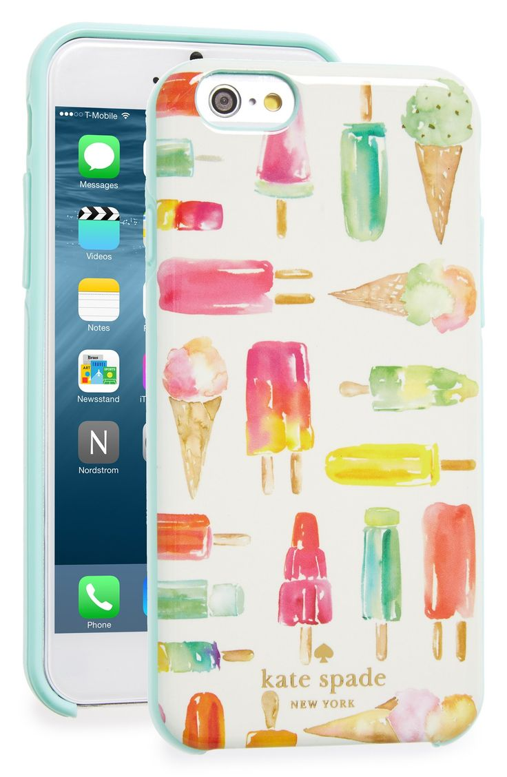 Obsessing over this colorful phone case from Kate Spade. The ice cream cones and popsicles are just too cute!