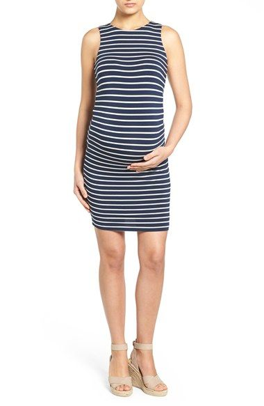 Free shipping and returns on Tart Maternity 'Lindy' Stripe Maternity Dress at Nordstrom.com. A supersoft modal blend with a hint of stretch is fashioned into a go-to tank dress cut with a tight, figure-flaunting silhouette.