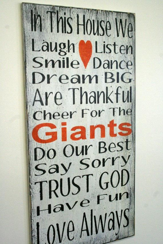 Family Rules Sign Giants Team Sports Sign Sports Sign Mancave Distressed Wood Shabby Chic Sign Rustic Sign White Orange by RusticlyInspired http://shabify.com/s/family-rules-sign-giants-team-sports-sign-sports-sign-mancave-distressed-wood-shabby-chic-sign-rustic-sign-white-orange-by-rusticlyinspired/