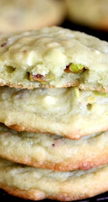 Pisatchio Pudding Cookies Recipe ~ This  Recipe is a keeper! The addition of chopped pistachios and white chocolate chips make these irresistible!
