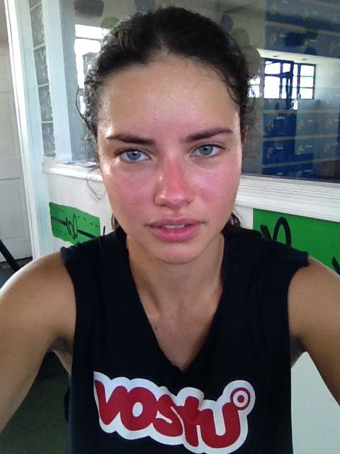 adriana lima without makeup. that's right... adriana lima. she's beautiful, but not the unattainably beautiful image that so many women compare themselves against... #ad