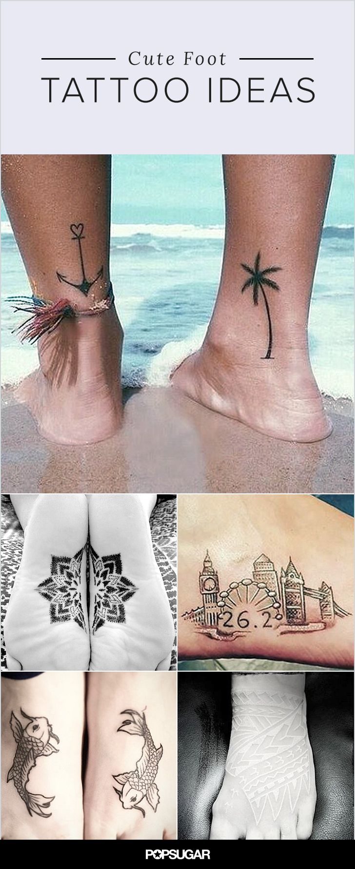 While they may be two of the most painful spots to get a tattoo, your feet are an amazing canvas for body art. You can easily show them off with sandals (or hide them when visiting Grandma), and they can look particularly pretty when accented with an anklet. Your feet have taken you down life's path, and that makes them the perfect place to talk about your journey. Get inspired for your own ink with these designs!