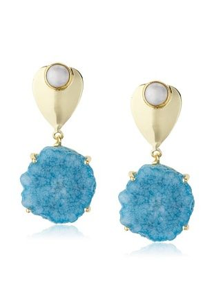 60% OFF Saachi Pearl and Agate Drop Earring