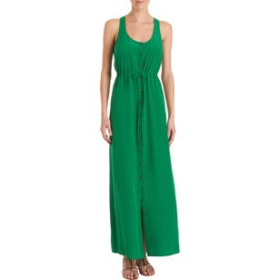 TWELFTH STREET BY CYNTHIA VINCENT Button Front Maxi Dress: Maxi Dresses, Front Maxi, Green Maxi