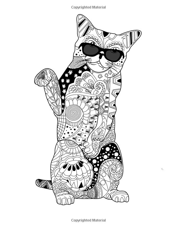 Animal Colouring Mindfulness Creative Fancy Cats Coloring Book Adult
