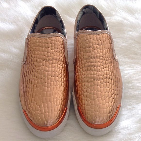 Ted Baker shoes Brand new, never used. Gold. Comfortable and stylish. Made in Vietnam. Ted Baker Shoes