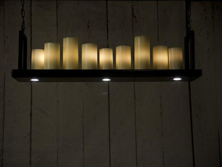 Hangende kaarslamp staal https://www.hestique.nl/aanbod/hangende-kaarslampen/kaarslamp-staal-94-cm/