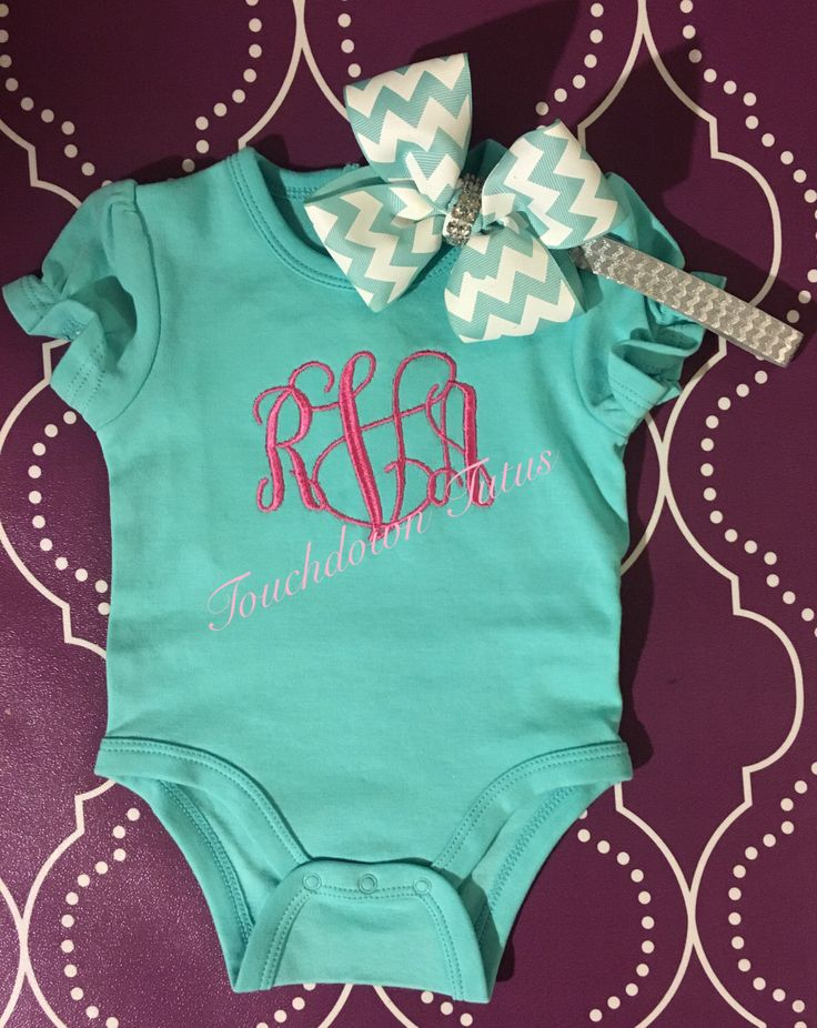 A personal favorite from my Etsy shop https://www.etsy.com/listing/489094676/monogrammed-embroidery-onesie-with