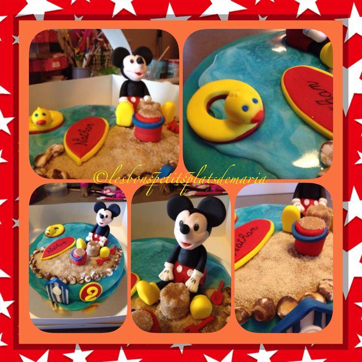 Gâteau Mickey a la plage