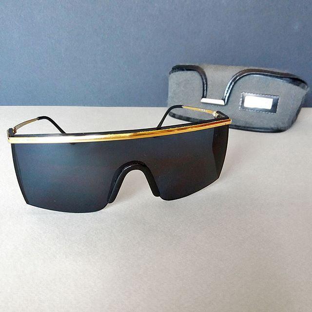 7e28d505d7 Gianni Versace MOD 790 Vintage Designer Shield Wrap Authentic Sunglasses in  Case  theosvintagefinds  accessories