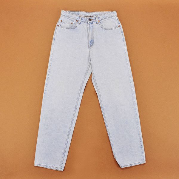 Vintage Levis Jeans, 90s Levi Jeans, Mens Levis Size 33, Light Wash... (€60) ❤ liked on Polyvore featuring men's fashion, men's clothing, men's jeans, mens torn jeans, mens light wash jeans, mens destroyed jeans, mens distressed jeans and men's relaxed fit jeans