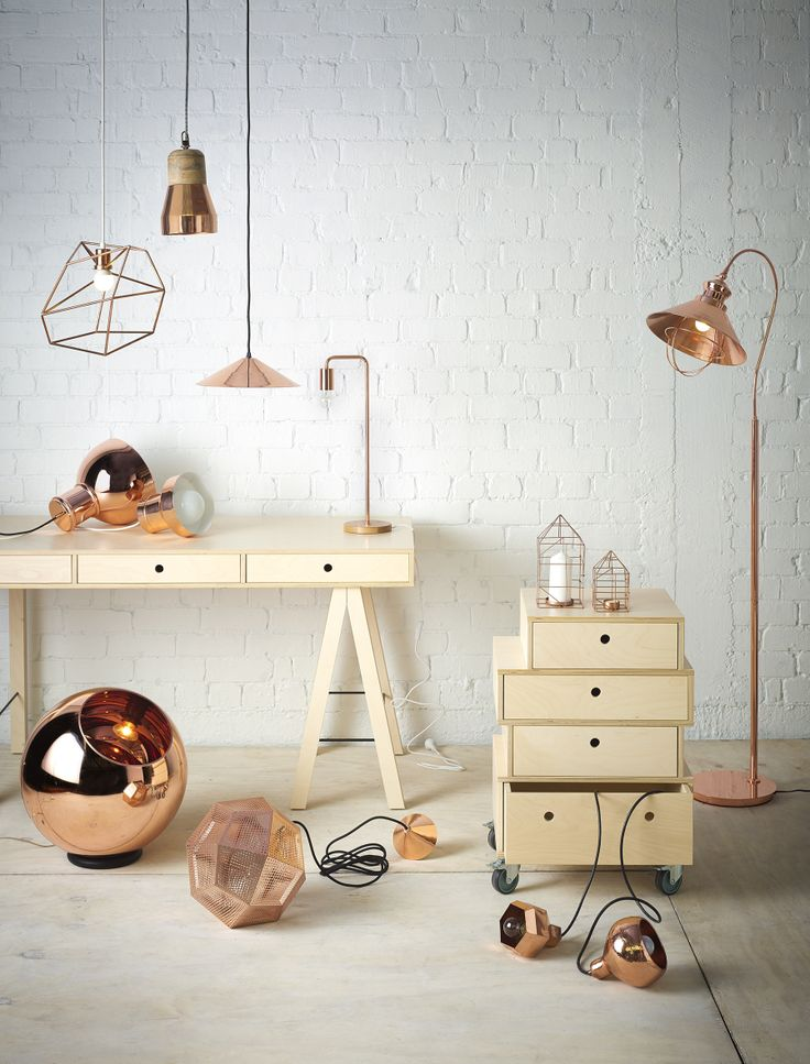 Copper Lighting - styled by Vanessa Nouwens and photography by Melanie Jenkins. Your Home & Garden June 2014.