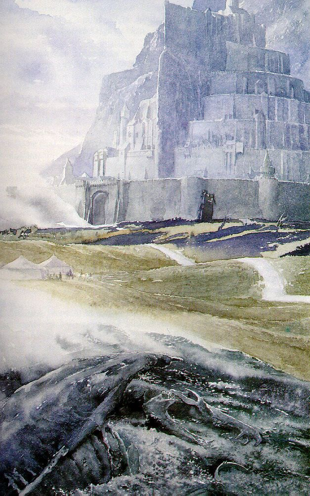 Alan Lee - Pelennor afterwards (with the remains of the Witch King of Angmar)