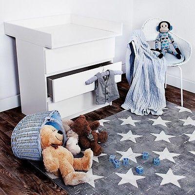 KAGU Wickeltischaufsatz Wickelaufsatz für IKEA-Kommode MALM Classic Weiß OVP&NEU
