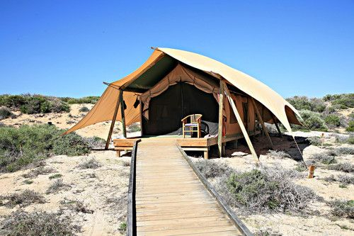 camp in Ningaloo Reef at Cape Range National Park, Western Australia