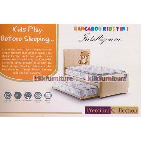 spring bed kangaroo kids 3 in 1 anak anak model terbaru promo