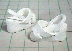 """How to make handmade clothing sandals """"Papupepo"""" of dress-up doll etc. Ninen paper"""