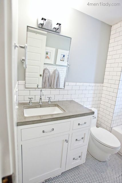 can t decide white or grey grout in bath   grey floor  white cabinets. 17 Best ideas about Penny Tile Floors on Pinterest   Penny