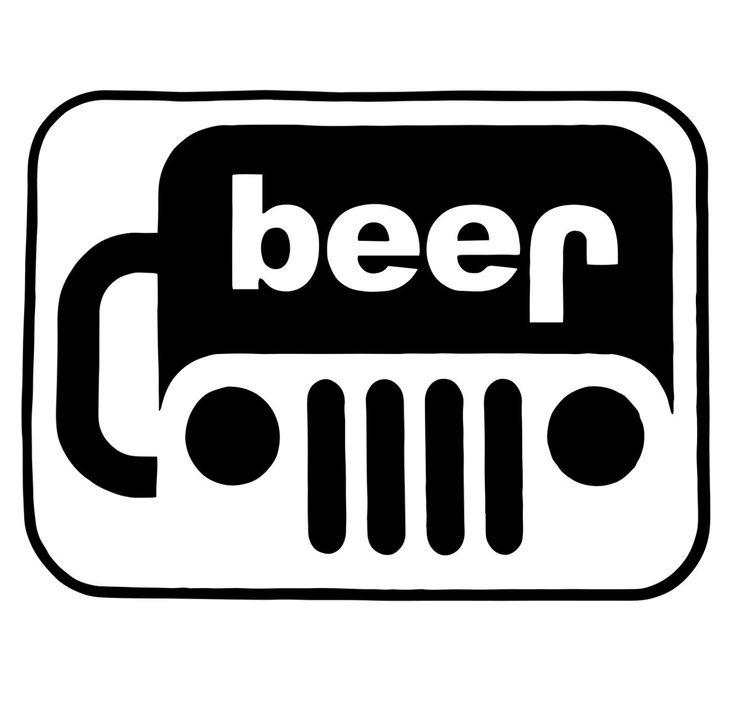 Beer 5 black vinyl decal