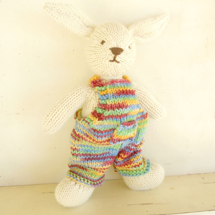 Knitted bunny, child's heirloom toy