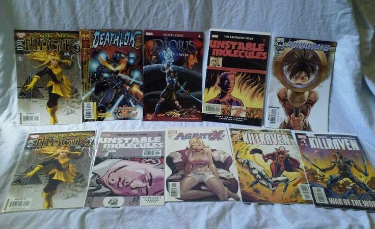 Lot of 10 Marvel Graphic Novels Comic Book #MarvelComicBook