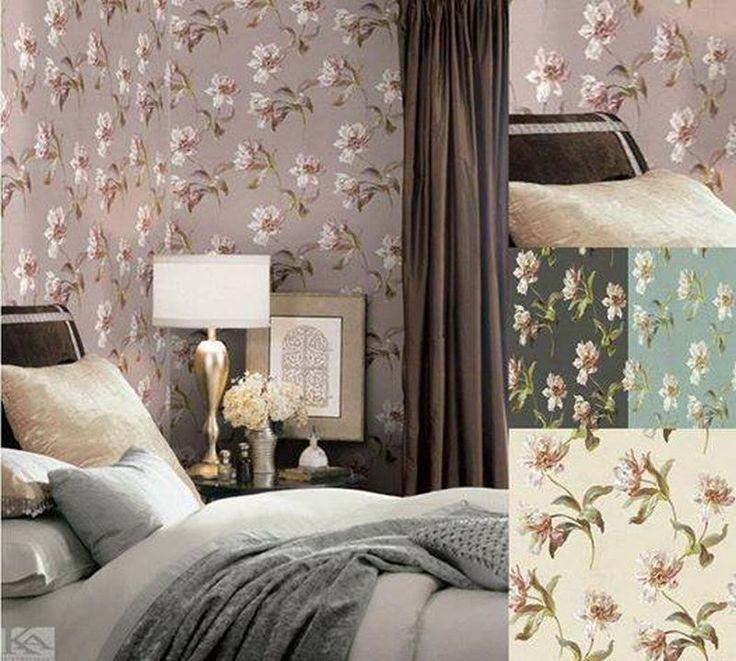 Creeaza, cu ajutorul tapetului Dogwood, o atmosfera unica si rafinata! Wallpaper Bedroom. Tapet dormitor.