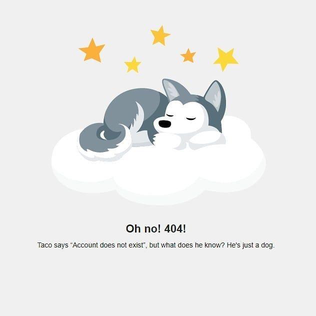 Nice 404 Page By Trelloapp 404 Webdesign Dogsofinstagram Trello Marketingagency Concordnh Doggo Web Design Instagram Marketing Agency