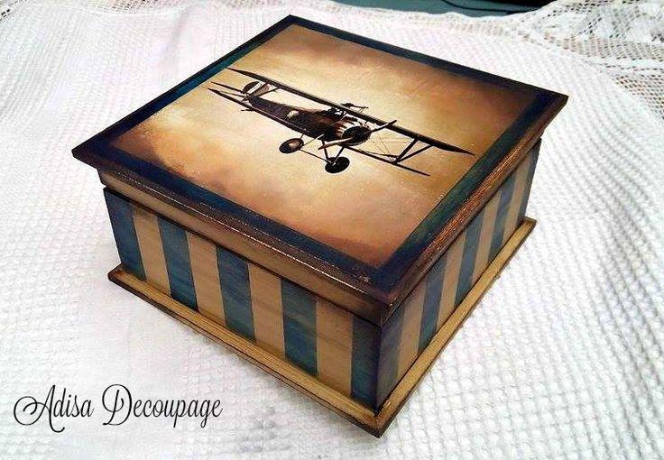 Adisa Decoupage airplane vintage