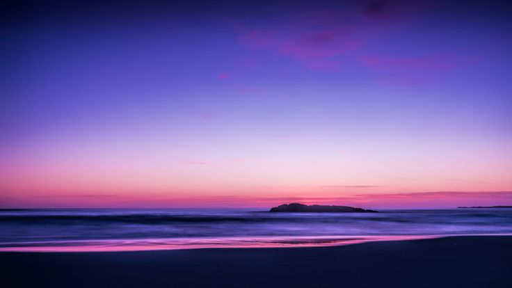 Purple and blue ocean view