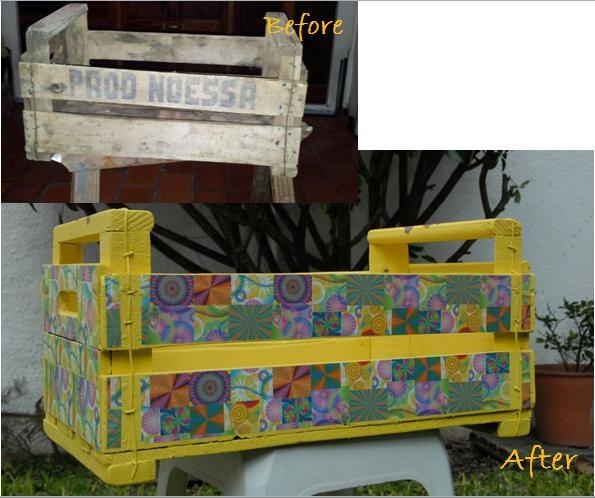 Cajon de frutas reciclado para guardar cositas www - Cajon para guardar juguetes ...